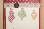 Ornament Keepsakes-trio with lace