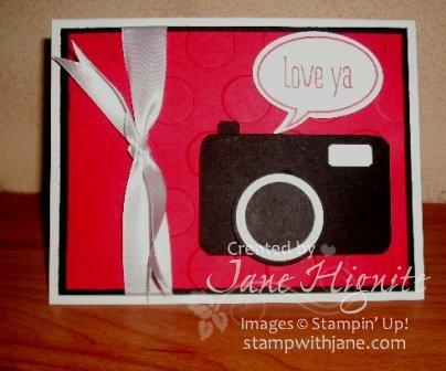 Camera Punch Art Card