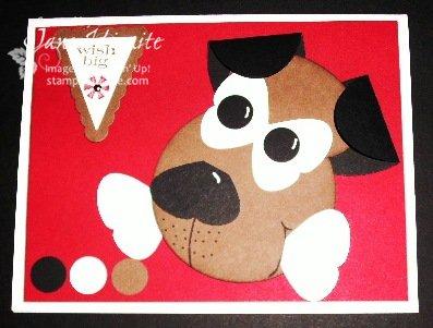 Puppy Dog Punch Card