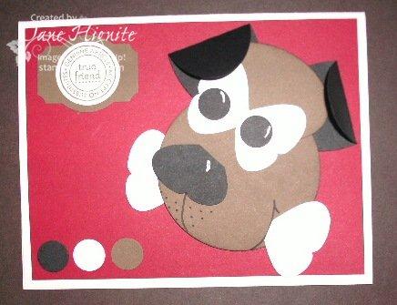 Dog with Bone Punch Art Card