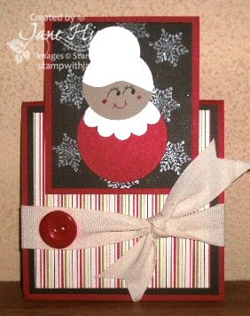 Punch Art-mrs clause tent card
