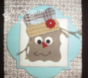 Scarecrow Punch Card-Close Up
