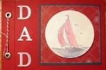 Sail Away Dad Gift Scrapbook