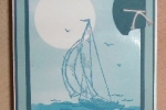 Sail Away Masked Brayer Card