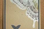 Swallowtail-white embossed