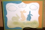 Easter Flip card-bunnies